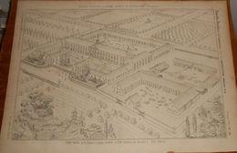 Plan De La Colonie Agricole Et Ferme Modèle De Ruysselède En Belgique 1857. - Public Works