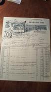 FACTURE ET MANDAT ILLUSTRES DE  1890 VANNERIE FINE ETREAUPONT (AISNE) - Artigianato