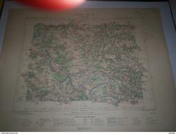 CARTE GEOGRAPHIQUE  G - Format  45 X 57 De EURE_OISE_SEINE Et OISE_Feuille  LES ANDELYS_ XV  12 ) En1885 - Geographische Kaarten