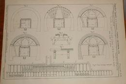 Plan Du Tunnel De Saint Cloud. Chemin De Fer De Versailles, Rive Droite.  1857. - Public Works