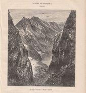 1874 - Gravure Sur Bois - Bagnères-de-Luchon (Haute-Garonne) - Le Port De Vénasque - FRANCO DE PORT - Stampe & Incisioni