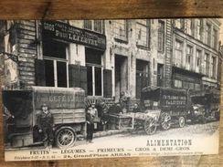 62 - CPA Animée ARRAS - Alimentation PAUL LEFEBVRE - 24, Grand'Place - Arras