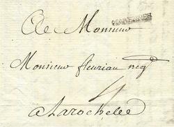 1770- Lettre De MARENNES ( Charente Maritime ) Lenain N°4   Taxe 4 Sols Pour La Rochelle - 1701-1800: Precursori XVIII