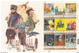 Ukraine 2017, Tintin Adventures, Space, Moto, Rocket, Chess, Sheetlet Of 9v - Ucrania