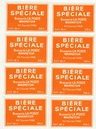8x Etiquette De Bière Brasserie La Poste Warneton Tournai - Beer
