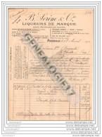 13 125 MARSEILLE Liqueur B. SERENE Marque MARIE BRIZARD ROGER BASS JOURDE THEOPHILE ROEDERER GOUDRON ROBERT J. FRANC ROU - Food