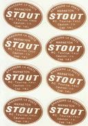 8x Etiquette De Bière Brasserie La Poste Warneton Tournai - Bière