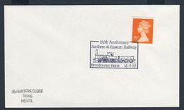 Great Britain 1990 Cover / Brief / Lettre - 150th Ann. Northern & Eastern Railway / Eisenbahngesellschaft - Treinen