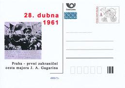 Tschech. Rep. / Ganzsachen (Pre2011/16) 50. Jahrestag Der Menschlichen Raumfahrt Yuri Alexejewitsch Gagarin In Prag 1961 - Flaggen