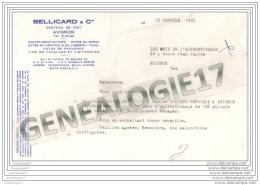 84 10 AVIGNON Et  CHATEAU DE PIOT Ets BELLICART Et Cie Vin 1965 Dest Amis De L Apprentissage AVIGNON - Lebensmittel