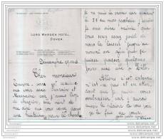 96 321 ROYAUME UNI ANGLETERRE 1896 LORD WARDEN HOTEL DOVER 1896 - United Kingdom