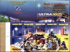 CHILE, 2000, CHRISTMAS, YV#C.1570F, BOOKLET, MNH - Noël