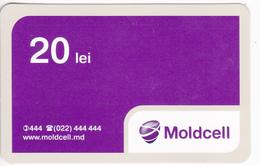 Moldova ,  Moldavie , Prepaid Phonecard - Moldcell , 20 Lei , Paper , Used - Moldova