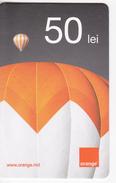 Moldova ,  Moldavie  Moldau ,  Prepaid Phonecard - Orange , 2013 ;  50 Lei , Paper , Used - Moldova
