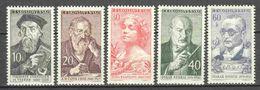 Czechoslowakia 1960 Mi 1216-1220 MNH - Nuevos