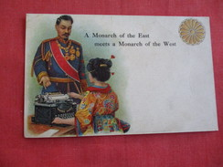 Monarch Typewriter-- Monarch Of The East Meets Monarch Of The West  ===  ===ref 2791 - Publicité