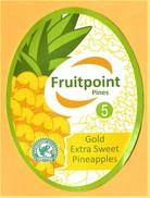 FRUITS AND VEGETABLES (CARDBOARD) / FRUITPOINT PINES - PINEAPPLE - CALIBRE 5 / 02 - Fruits & Vegetables
