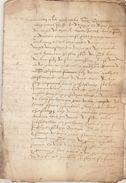 Document Manuscrit Ancien De 1562 En 12 Pages - Manuskripte