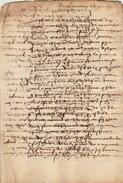 Document Manuscrit Ancien De 1570 En 8 Pages - Manuscripts