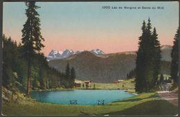 Lac De Morgins Et Dents Du Midi, Valais, Suisse, C.1910s - Phototypie Co CPA - VS Valais