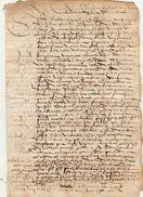 Document Manuscrit Ancien De 1570 En 4 Pages - Manuscripts