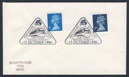 Great Britain 1990 Cover / Brief / Lettre - TSW Names  - The Train - TSW Today - Royal Mail . Plymouth - Treinen