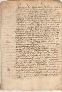 Document Manuscrit Ancien De 1576 En 8 Pages - Manuscripts