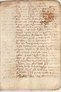 Document Manuscrit Ancien De 1575 En 8 Pages - Manuscripts