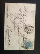 BUSTA POSTALE  In (FORMATO BIGLIETTO DA VISITA)-10-6-1867-CENT.20-CASSANO D'ADDA X PIZZICHETTONE - 1861-78 Vittorio Emanuele II