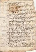 Document Manuscrit Ancien De 1576  En 4 Pages - Manuscripts
