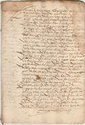 Document Manuscrit Ancien De 1577  En 12 Pages - Manuscripts