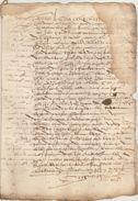 Document Manuscrit Ancien De 1577  En 6 Pages - Manuscrits