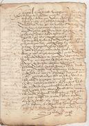 Document Manuscrit Ancien De 1577  En 6 Pages - Manuscripts