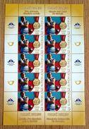 SALE!!! Eslovenia Slovenia Slovenie Slowenien 2008 Gold Olympic Medal Primoz Kozmus Sheetlet Of 10 Stamps MiNr693 MNH ** - Slovenia