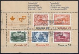 CANADA 1982 Nº  HB-3 USADO (PEQUEÑA ROTURA MARGEN DERECHO) - Blocks & Sheetlets