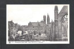 NIEUWPOORT - STAD 1940 - MARKT, HALLE EN O.L. VROUW-KERK  - NELS  (6817) - Nieuwpoort