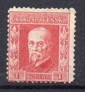 CZECHOSLOVAKIA   1925 , MNH   ,EXP. GILBERT , WATERMARK 8  , MICHEL No. 228 -- 110 € - Tchécoslovaquie