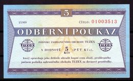 CZECHOSLOVAKIA  1989 , TUZEX -  5 Kčs - Tsjechoslowakije