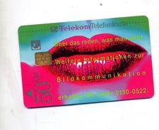 Carte Telephone Te Le Kom 50 Dm Levre Oeil - Allemagne
