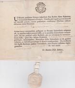 FRANCE   PAPIER  AVEC TIMBRE FISCAL HUIT SOLS - Revenue Stamps