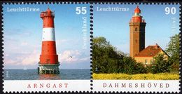 Germany - 2011 - Lighthouses - Arngast And Dahmeshoved - Mint Stamp Set - Nuovi