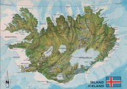 Island - Island (allgemein) - Übersichtskarte - 1986 - Iceland