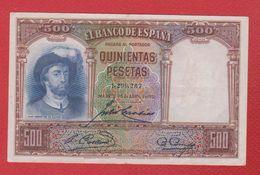 Espagne  --   500 Pésetas  25 Avril 1931 -  état  TTB - 500 Pesetas