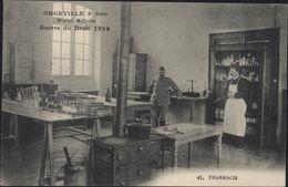 CPA ORGEVILLE 2° Série Hôpital Militaire Guerre Du Droit 1914  N° 41 PHARMACIE Cuisinière à Bois Colonie Agricole - Guerre 1914-18