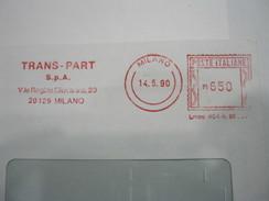 RS8 ITALIA EMA AFFR. MECCANICA ROSSA - 1990 MILANO - TRANS PART SPA VIALE REGINA GIOVANNA ELETTRONICA ENERGY - Affrancature Meccaniche Rosse (EMA)