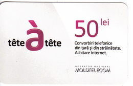 Moldova ,  Moldavie  , Prepaid Phonecards - Moldtelecom - Tete-a-tete , 50 Lei , Matte Paper , Used - Moldova