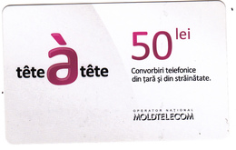 Moldova ,  Moldavie  , Prepaid Phonecards - Moldtelecom - Tete-a-tete , 50 Lei , Glossy Paper , Used - Moldova