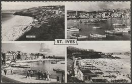 Multiview, St Ives, Cornwall, 1963 - Valentine's RP Postcard - St.Ives