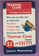Télécarte Australie °° Prépayée Thomas Cook - $ 2 - Telstra 1999 RV - Australie