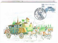76  JOURNEE  DU  TIMBRE  LE HAVRE   1989  DILIGENCE  PARIS  LYON DESSIN     CPM  TBE 1P770 - France